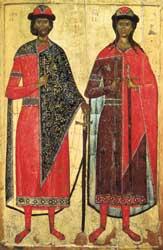 Священномученики Борис и Глеб (в крещении - Давид и Роман)