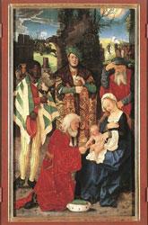Ганс Бальдунг. Поклонение волхвов (деталь триптиха). 1507